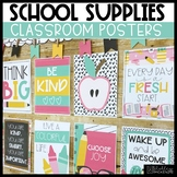 School Supplies Classroom Posters - Editable!