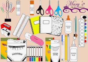 School Supplies - Clip Art