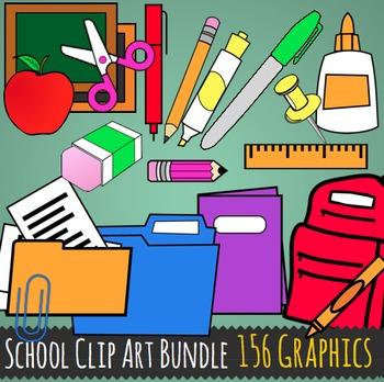 School Supplies Clip Art - 156 Back to School Graphics