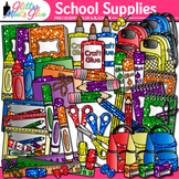 Back to School Supplies Clip Art: School Supply Graphics 2 {Glitter Meets Glue}