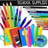 Vibrant and Colorful School Supplies Clip Art: 52 PNG Imag
