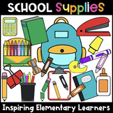 School Supplies Clip Art BUNDLE [ Back to School Clipart ]