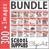 School Supplies Clip Art Bundle Back to School