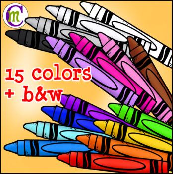 School Supplies Clip Art Crayons CM