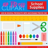 School Supplies Clip Art (Digital Use Ok!)