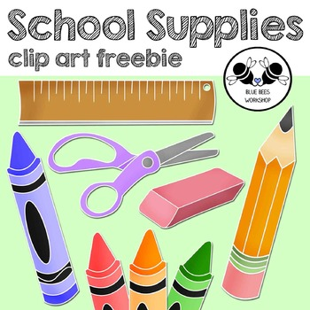School Supplies Clip Art Freebie