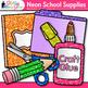 Back to School Supplies Clip Art Bundle {Notebook, Marker,