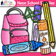 Back to School Supplies Clip Art Bundle {Notebook, Marker, Pencil, Backpack} 3