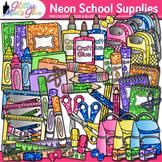 Back to School Supplies Clip Art Pack | Notebook, Marker, Pencil, Backpack 3