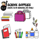 School Supplies Clip Art Pack