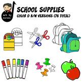 School Supplies Clip Art Pack