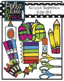 School Supplies Clip Art (Polka Dots and Pals)