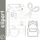 School Supplies Clip Art (RDS Clipart)