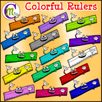 School Supplies Clip Art Rulers CM