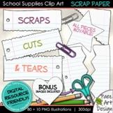 School Supplies Clip Art: Scrap Paper   Movable Images {PaezArtDesign}