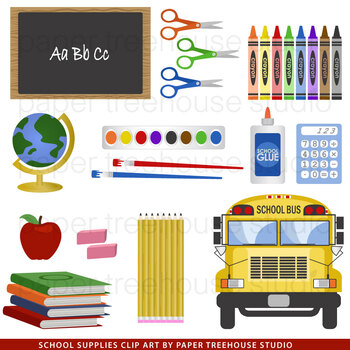 School Supplies Clip Art Set