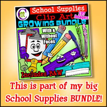 School Supplies Clip Art Tape CM