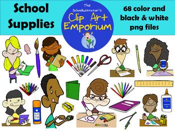 School Supplies Clip Art (FREE!) - The Schmillustrator's Clip Art Emporium