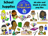 School Supplies Clip Art (FREE!) - The Schmillustrator's C