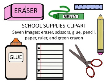 School supplies clipart by salamander ed teachers pay teachers school supplies clipart voltagebd Image collections