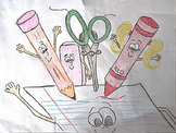 School Supplies - Clipart