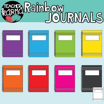 School Supplies Clipart BUNDLE - Rainbow