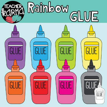 School Supplies Clipart BUNDLE - Rainbow
