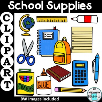 School Supplies Clipart (Back to School)