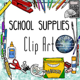School Supplies Clipart - Back to School - 60 Clip Art Images
