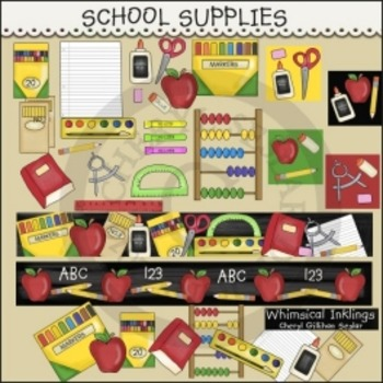 School Supplies Clipart Collection FREE FREE FREE