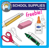 School Supplies Clipart FREE!