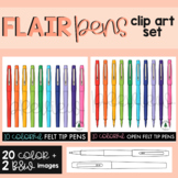 School Supplies Clipart / Flair Pens Clipart