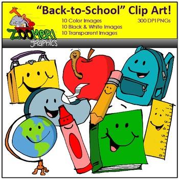 School Supplies Clipart Set