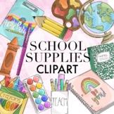 School Supplies Clipart by Taracotta Sunrise