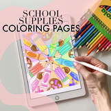 School Supplies Coloring Pages by Taracotta Sunrise