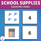 School Supplies Counting cards