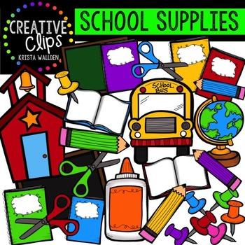School Supplies Clipart {School Clipart}