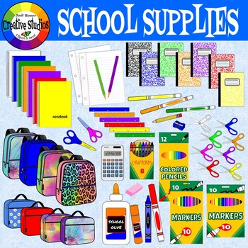 School Supplies (Creative Studios Clipart)