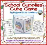 School Supplies Cube Game {roll, tally, & graph skills}