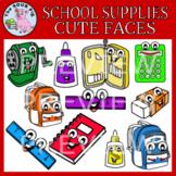 School Supplies Cute Faces
