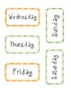 School Supplies Days of the Week Calendar Headers