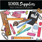 School Supplies - Digital Clipart