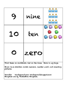 School Supplies- Domino Numbers