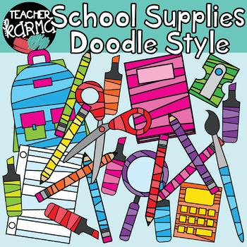 School Supplies: Doodle Style