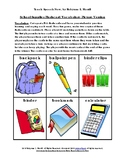School Supplies Flashcard Vocabulary-Picture and Photo Versions
