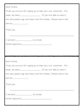 School Supplies Forms