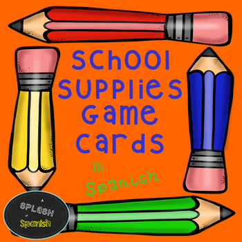 School Supplies Game Cards