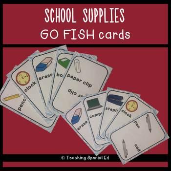 School Supplies Go Fish