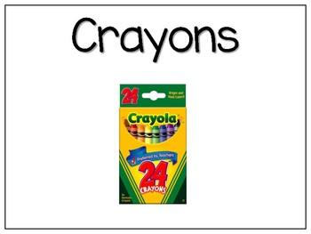 School Supplies Labels