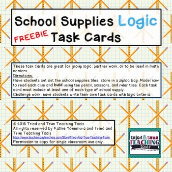 School Supplies Logic Sampler